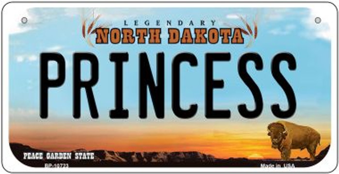 Princess North Dakota Novelty Metal Bicycle Plate BP-10723