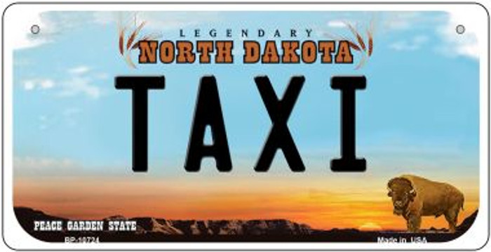 Taxi North Dakota Novelty Metal Bicycle Plate BP-10724
