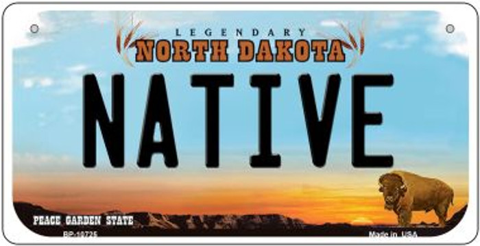 Native North Dakota Novelty Metal Bicycle Plate BP-10725