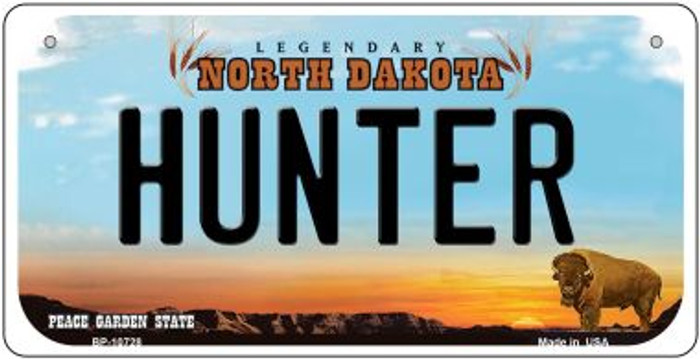 Hunter North Dakota Novelty Metal Bicycle Plate BP-10728