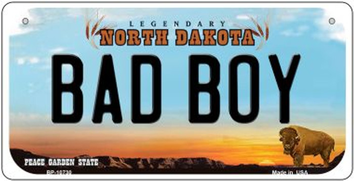 Bad Boy North Dakota Novelty Metal Bicycle Plate BP-10730