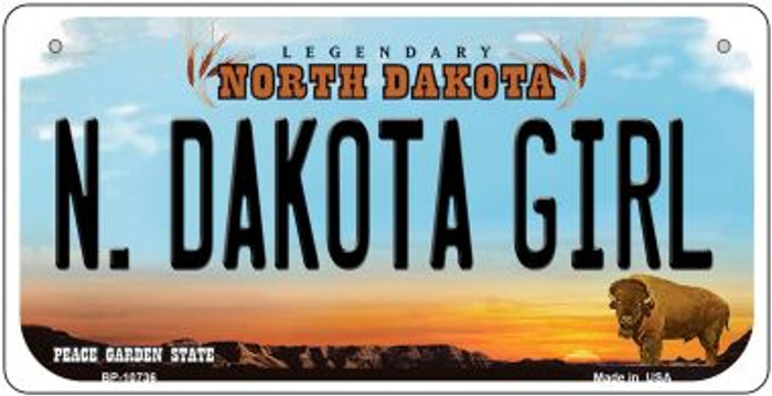 N Dakota Girl Novelty Metal Bicycle Plate BP-10736