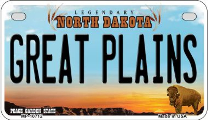 Great Plains North Dakota Novelty Metal Motorcycle Plate MP-10712