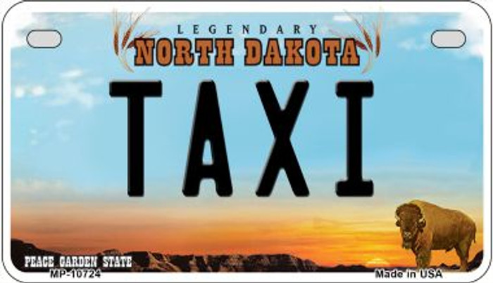 Taxi North Dakota Novelty Metal Motorcycle Plate MP-10724