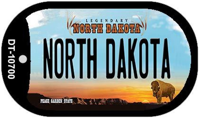 North Dakota Novelty Metal Dog Tag Necklace DT-10700