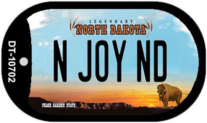 N Joy ND North Dakota Novelty Metal Dog Tag Necklace DT-10702