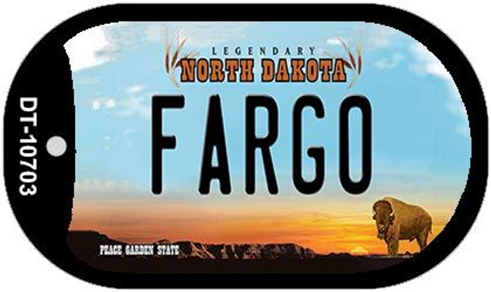 Fargo North Dakota Novelty Metal Dog Tag Necklace DT-10703