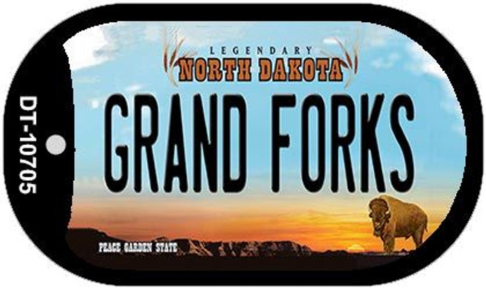 Grand Forks North Dakota Novelty Metal Dog Tag Necklace DT-10705