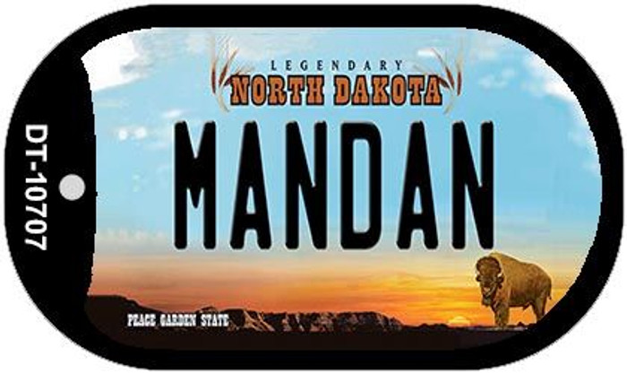 Mandan North Dakota Novelty Metal Dog Tag Necklace DT-10707