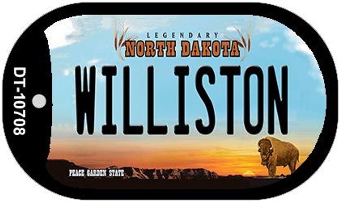 Williston North Dakota Novelty Metal Dog Tag Necklace DT-10708