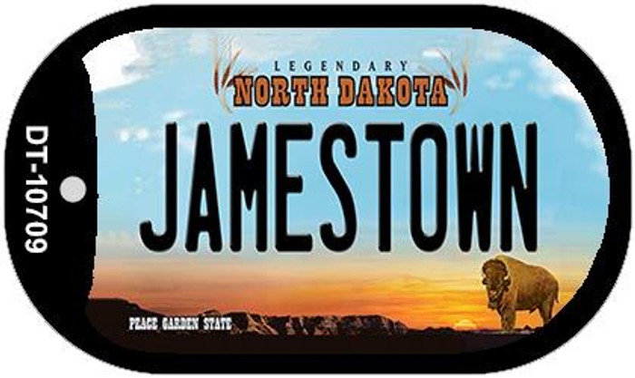 Jamestown North Dakota Novelty Metal Dog Tag Necklace DT-10709