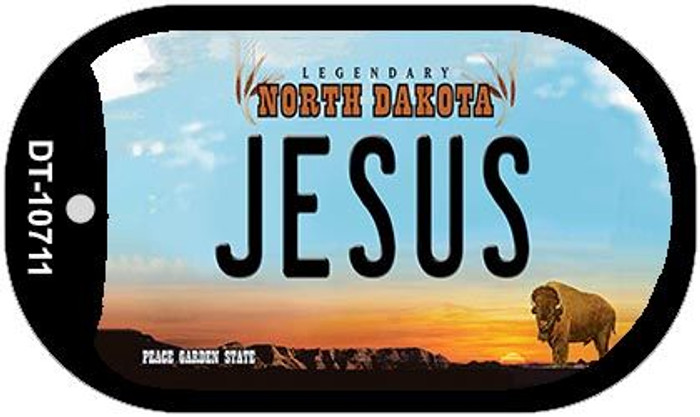 Jesus North Dakota Novelty Metal Dog Tag Necklace DT-10711
