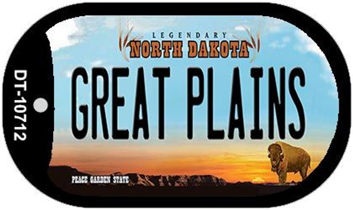 Great Plains North Dakota Novelty Metal Dog Tag Necklace DT-10712