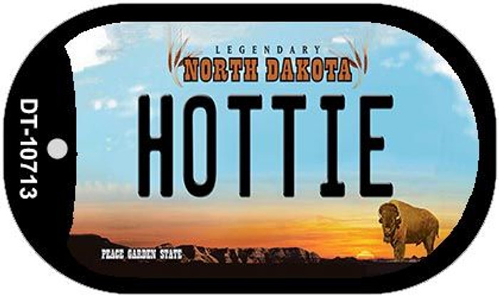 Hottie North Dakota Novelty Metal Dog Tag Necklace DT-10713