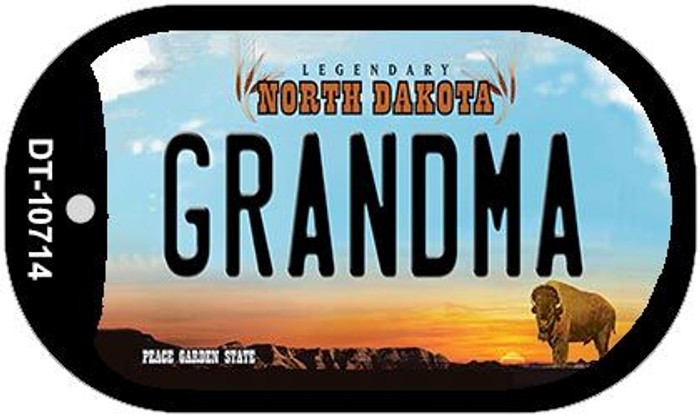 Grandma North Dakota Novelty Metal Dog Tag Necklace DT-10714
