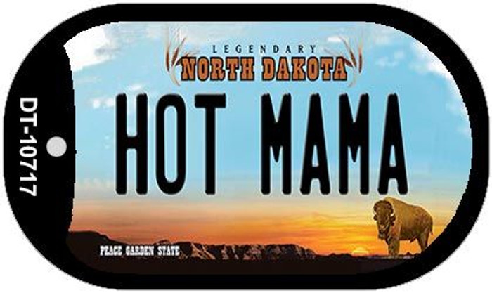Hot Mama North Dakota Novelty Metal Dog Tag Necklace DT-10717