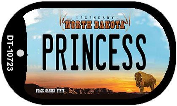 Princess North Dakota Novelty Metal Dog Tag Necklace DT-10723