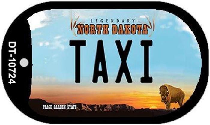 Taxi North Dakota Novelty Metal Dog Tag Necklace DT-10724