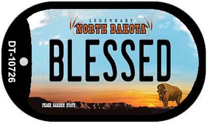 Blessed North Dakota Novelty Metal Dog Tag Necklace DT-10726
