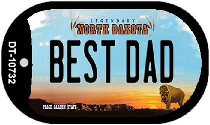 Best Dad North Dakota Novelty Metal Dog Tag Necklace DT-10732