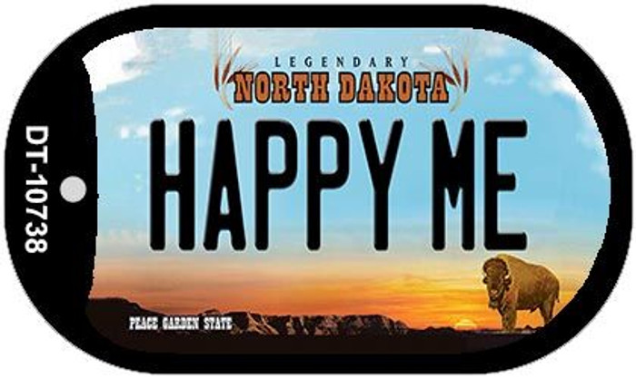 Happy Me North Dakota Novelty Metal Dog Tag Necklace DT-10738