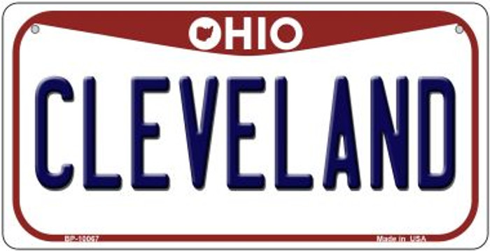 Cleveland Ohio Novelty Metal Bicycle Plate BP-10067