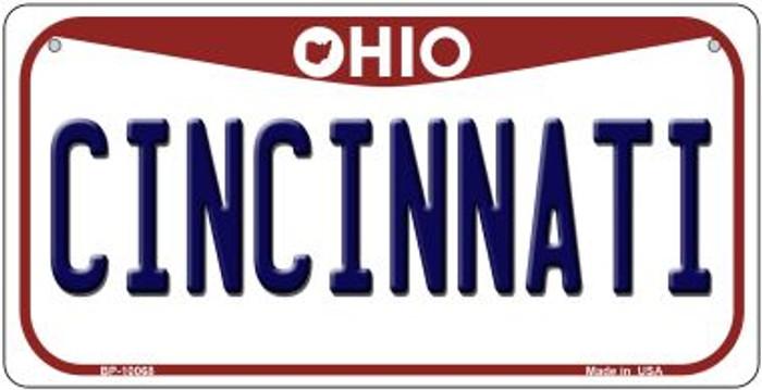 Cincinnati Ohio Novelty Metal Bicycle Plate BP-10068