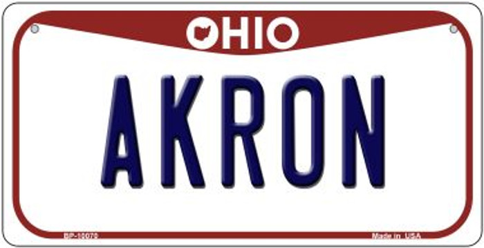 Akron Ohio Novelty Metal Bicycle Plate BP-10070