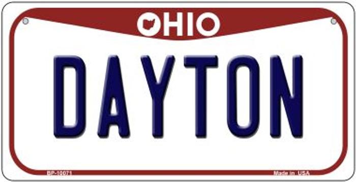 Dayton Ohio Novelty Metal Bicycle Plate BP-10071