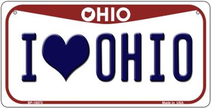 I Love Ohio Novelty Metal Bicycle Plate BP-10072