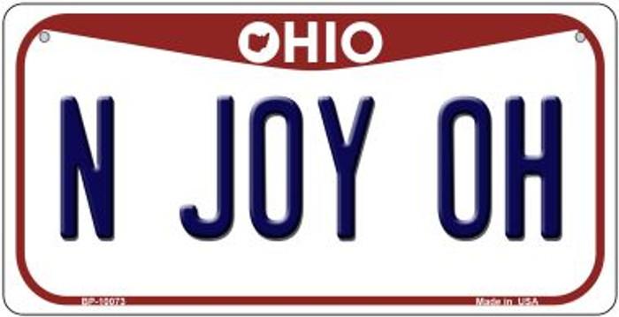 N Joy OH Ohio Novelty Metal Bicycle Plate BP-10073