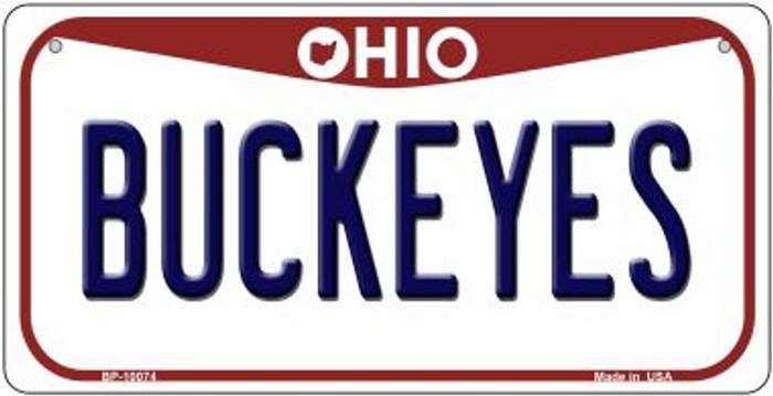 Buckeyes Ohio Novelty Metal Bicycle Plate BP-10074