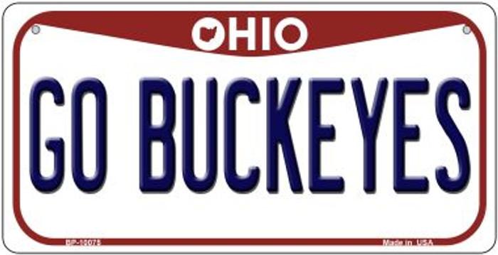 Go Buckeyes Ohio Novelty Metal Bicycle Plate BP-10075