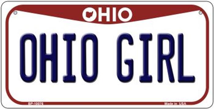 Ohio Girl Ohio Novelty Metal Bicycle Plate BP-10076