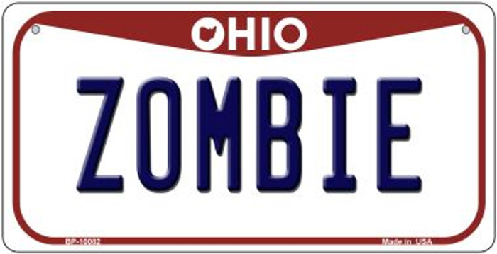 Zombie Ohio Novelty Metal Bicycle Plate BP-10082