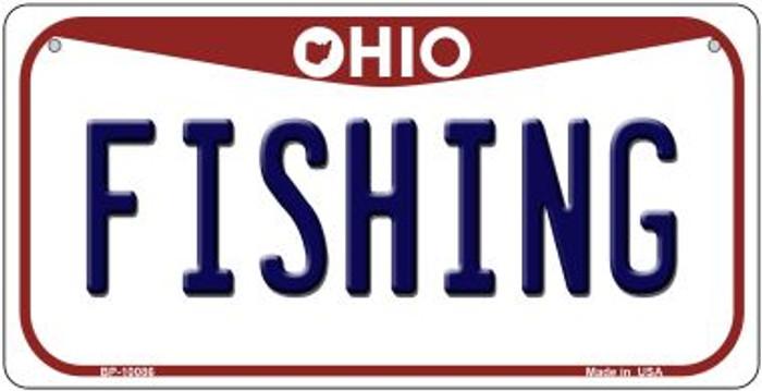Fishing Ohio Novelty Metal Bicycle Plate BP-10086