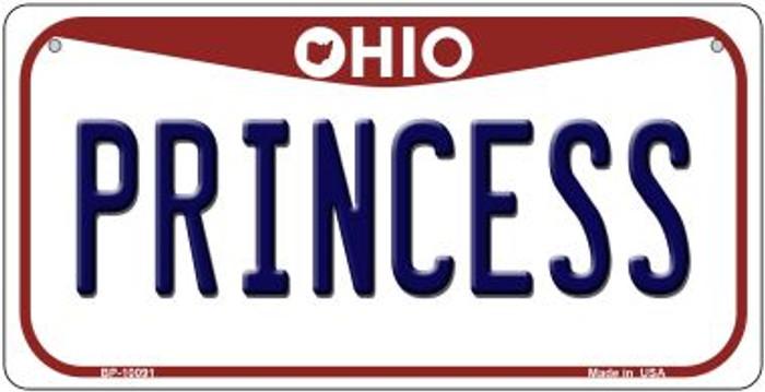 Princess Ohio Novelty Metal Bicycle Plate BP-10091