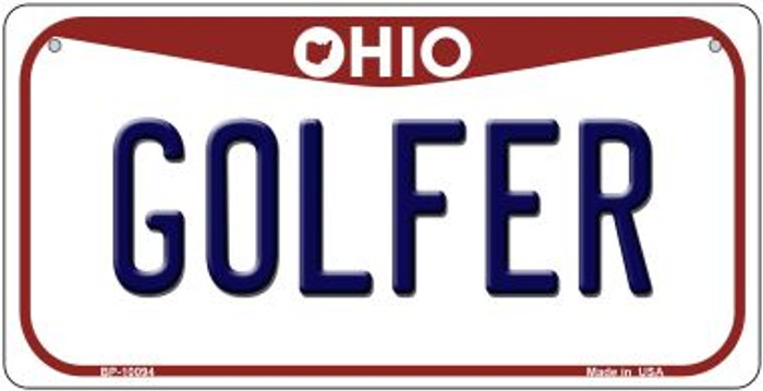 Golfer Ohio Novelty Metal Bicycle Plate BP-10094