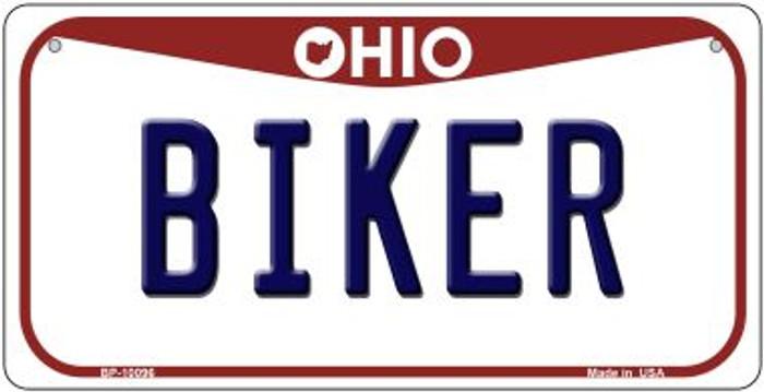 Biker Ohio Novelty Metal Bicycle Plate BP-10096