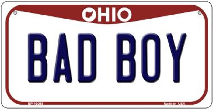 Bad Boy Ohio Novelty Metal Bicycle Plate BP-10098