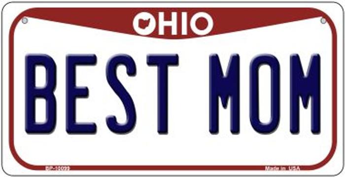 Best Mom Ohio Novelty Metal Bicycle Plate BP-10099