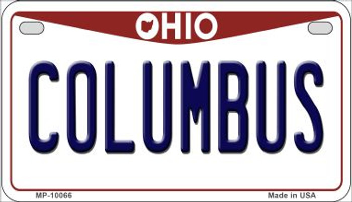 Columbus Ohio Novelty Metal Motorcycle Plate MP-10066