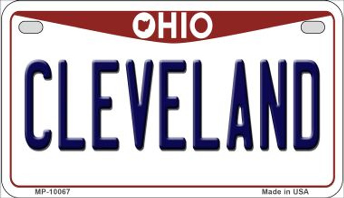 Cleveland Ohio Novelty Metal Motorcycle Plate MP-10067