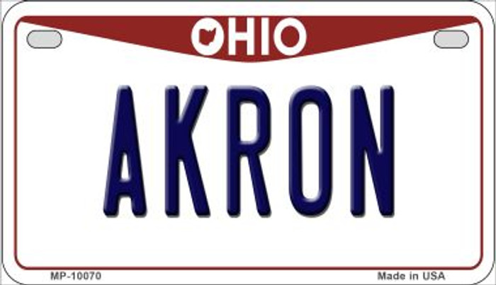 Akron Ohio Novelty Metal Motorcycle Plate MP-10070