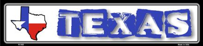 Texas State Outline Novelty Metal Vanity Small Street Sign