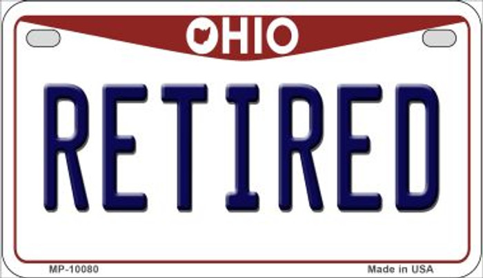 Retired Ohio Novelty Metal Motorcycle Plate MP-10080