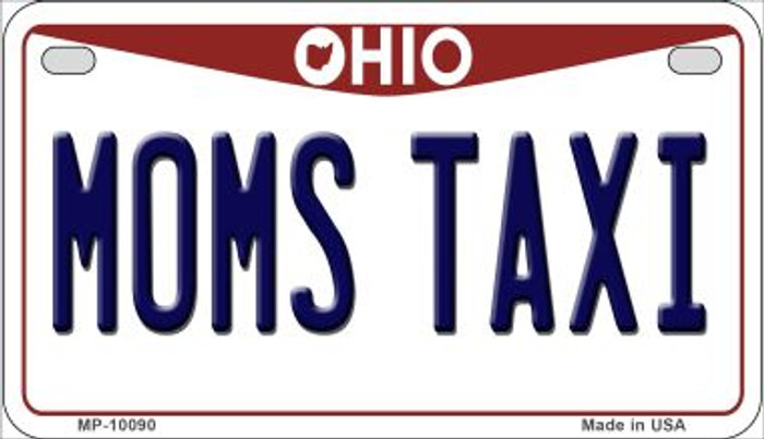 Moms Taxi Ohio Novelty Metal Motorcycle Plate MP-10090