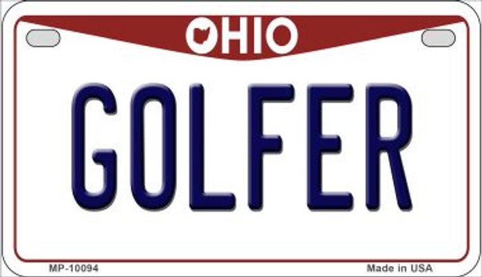 Golfer Ohio Novelty Metal Motorcycle Plate MP-10094