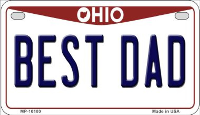 Best Dad Ohio Novelty Metal Motorcycle Plate MP-10100