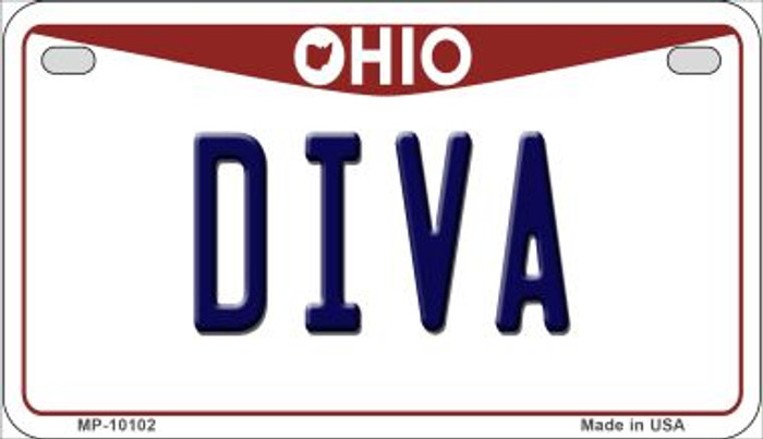 Diva Ohio Novelty Metal Motorcycle Plate MP-10102